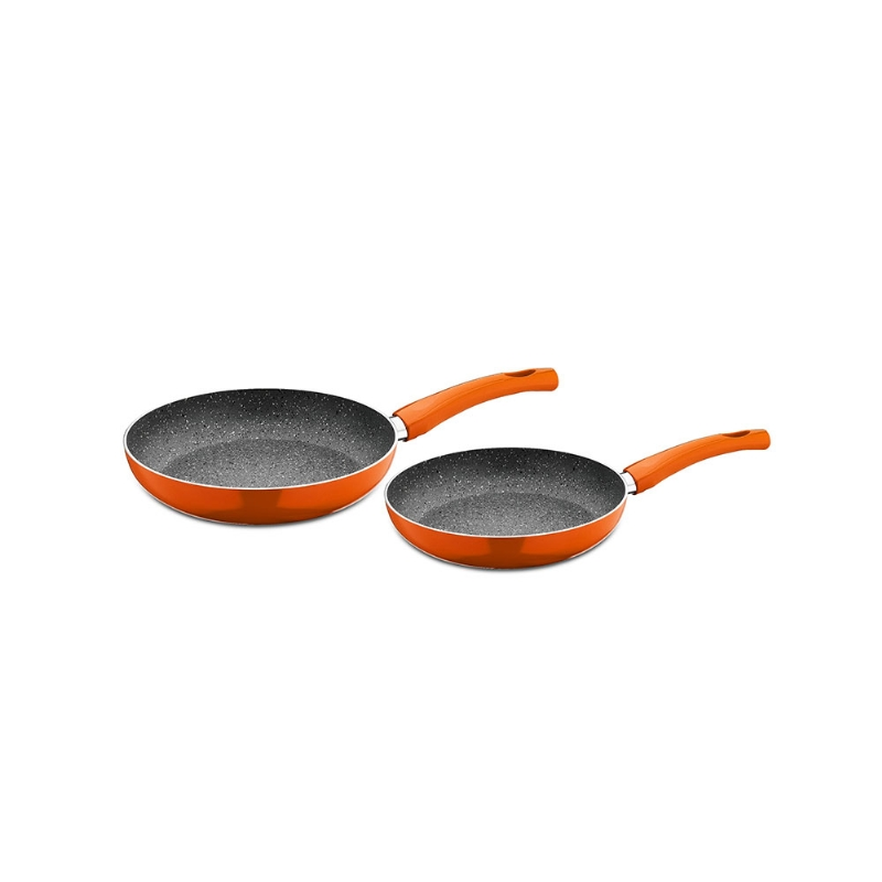 SET STYLISH STONE (TAVA 22 CM + TAVA 26 CM) - ORANGE