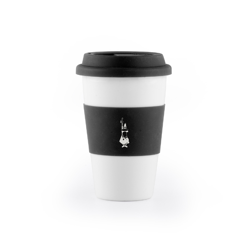 MUG TAKE AWAY SIL 300ML BLACK
